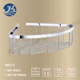 Étagère réglée de réseau de mur d'acier inoxydable de salle de bains (W07-1)