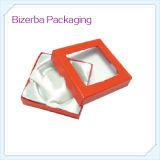 Caja de joyería de encargo de la pulsera del papel de la cartulina