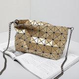 De gouden Handtas van de Zak van Crossbody van de Stijl van Japan en van Korea Ruitvormige Geometrische (a060-3)