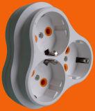 Adaptador redondo de la energía del Pin del estándar europeo 2