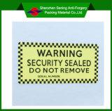 Kundenspezifischer Sicherheits-Barcode Stickers&Destructible Vinyleierschalen-Aufkleber