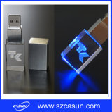 Quality 높은 Promotion Gift Crystal USB Memory Stick, 3D Logo USB Stick
