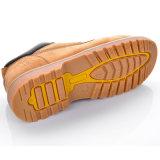 Zapatos de seguridad de cuero de Nubuck Goodyear con el casquillo de acero L-7281 de la punta