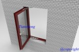 Singolo Glass Aluminum Casement Window per Commercial e Residential