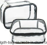 Vente en gros Custom Transparent Imperméable Imprimé Plastique Zipper PVC Cosmetic Bag