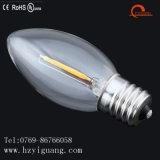 Bulbo caliente de Prodect LED de la venta de la fábrica de la vela C9