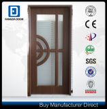 Porte intérieure insérée par glace de panneau de pièce en bois de partition