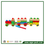 Colorful al por mayor Changeful Wooden Train con 3 Carriages