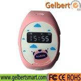 Gelbert GPS que sigue el reloj elegante de los cabritos con el botón el SOS