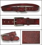 Cinghia di cuoio genuina di modo marrone-rosso per gli uomini
