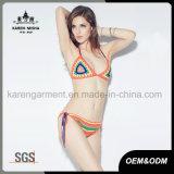 De Kleren van het Strand van de Hippie van het Festival van de zomer haken Halter Bikini Swimwear