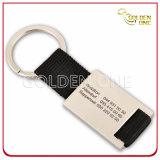 Porte-clés en métal rectangulaire en gravure personnalisée