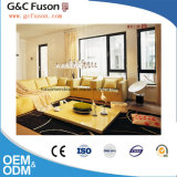 Type français de qualité Windows/double guichet en verre en aluminium de tissu pour rideaux dans Guangzhou