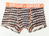 Sous-vêtements de circuit du boxeur des hommes neufs estampés Allover de type