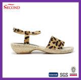 Сандалии женщины Espadrilles леопарда шерстяные