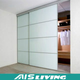 現代白いガラスドアのワードローブの戸棚(AIS-W040)