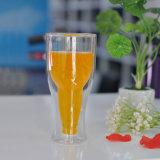 12ozホウケイ酸塩の倍の壁ビールガラス