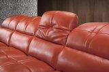 2016 sofas en cuir sectionnels commerciaux contemporains plus vendus (HC2023)