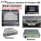 Peugeot 208 2008年、308、408、508のための人間の特徴をもつ航法システムビデオインターフェイスボックス