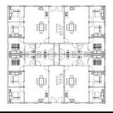 Het Hotel van de Villa van multi-verhalen door de Lichte Structuur die van het Staal wordt geconstrueerd