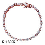 Nuovi disegni 925 braccialetti multicolori d'argento di Zirconia