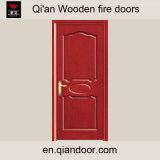 Porte ignifuge de porte Incendie-Évaluée en bois de porte coupe-feu
