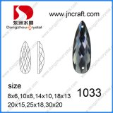 Pujiang Factory Flat Back Decorative Drop Glass Stone pour Garment