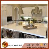 Controsoffitto bianco della cucina della pietra del quarzo di vendita calda