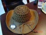 Sombreros vestidos paja de papel/casquillo de la playa de las señoras del 100%