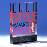 Оптовый ясный пластичный акриловый рекламируя трофей пожалования (HY-YXG001)