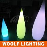 El LED colorea la lámpara de vector plástica cambiante de la gota del agua de la decoración de interior de la familia