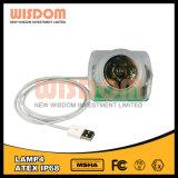 Lampada della bici dell'indicatore luminoso del casco di saggezza Lamp4, faro esterno del LED, riflettore