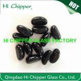 Zerquetschte hellbernsteinfarbige Glaschips