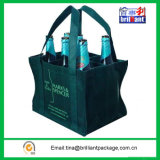 Sei Bottom Non Woven Wine Bottle Bag con Stifener