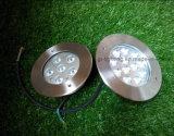 18W tricolor de aluminio de luz LED enterrada (JP82666)