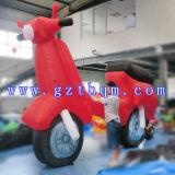 Modelo inflable de la exposición de hacer publicidad la motocicleta