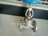 Acier inoxydable fileté de Wirh de robinet d'arrêt sphérique pour le métèque