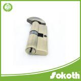 Cilindro euro de cobre amarillo sólido del perfil de la alta seguridad