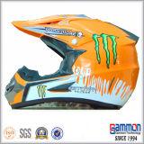 Capacete fresco de Motorcross do PONTO com grafittis na laranja (CR402)