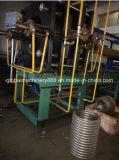 Conducto flexible acanalado del acero hidráulico que hace la máquina