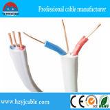 Кабель близнеца и земли, плоский твиновский кабель сердечника, твиновский плоский кабель, провод 2core +E электрические и кабель
