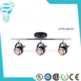 LED Spot Light LED Track Lighting Chrome com vidro texturizado