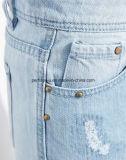 De Vrouwen van de manier kleedt de Lichtblauwe Jeans Harlan van het Denim bebouwden Broek