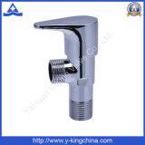 Soupape de cornière en laiton passée et polie au bichromate de potasse pour la salle de bains (YD-5027)