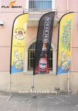 Знамя пера торговой выставки алюминиевые изготовленный на заказ/флаг летания