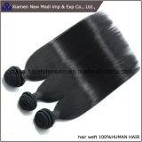 Pelo humano humano negro natural de la extensión el 100% del pelo