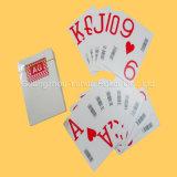 Покер 100% пластмассы покера играя карточек PVC нестандартной конструкции