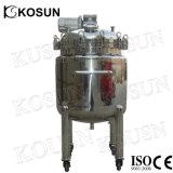 réservoir de mélange revêtu liquide chimique de lait cosmétique de l'acier inoxydable 1000L double