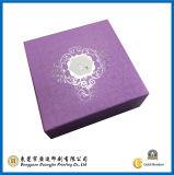 Caja de regalo púrpura del papel cuadrado del color (GJ-Box024)