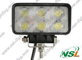 EMC 18W 6LED Automobile Lwork Lamp、Flood Beam LED Rectangular Light、Round LED Offroad Lamp Driving
